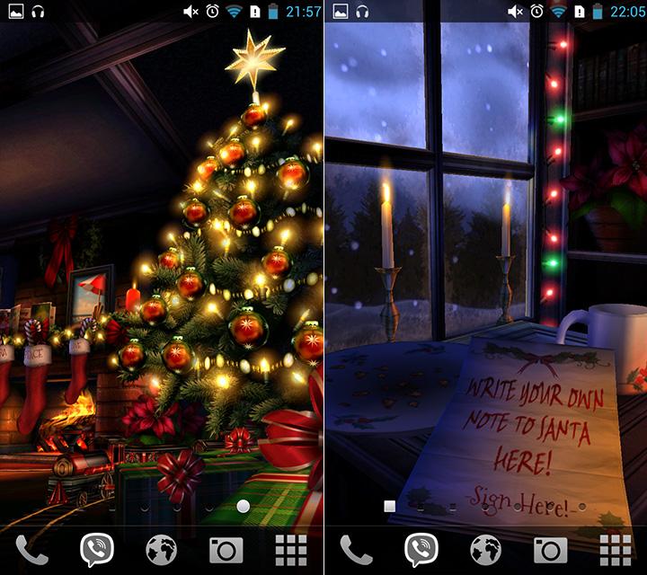 Как установить на Андроид живые обои - Christmas HD