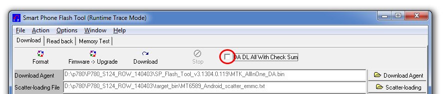 Как прошить Андроид через FlashTool
