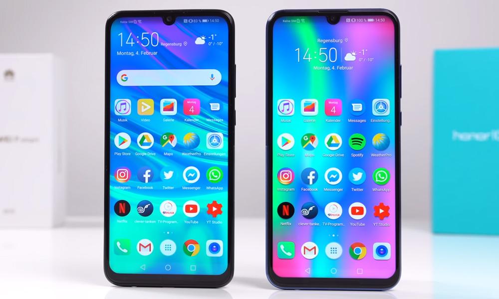 Внешний вид Huawei P smart 2019 и Honor 10 lite
