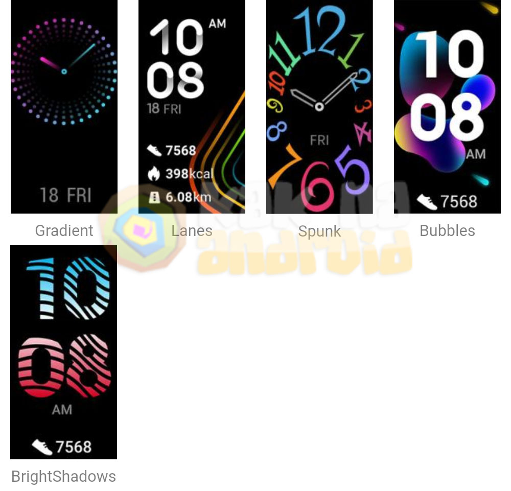 Циферблаты Honor Band 5